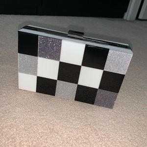 Aldo Checkered Clutch Purse with removable strap